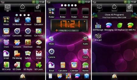 Samoled GO Launcher EX Theme