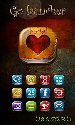 Metal GO LauncherEX Theme